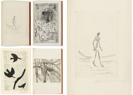 Libro Ilustrado Giacometti - Bibliographie des œuvres de René Char (PAB 1964) Gravures signées de Giacometti, Miro, Braque, Da Silva.