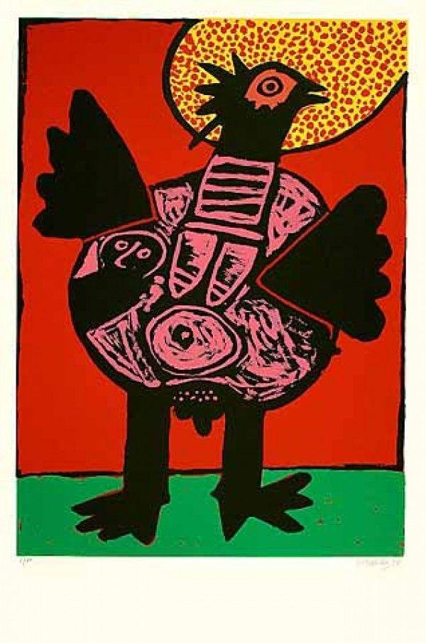 Litografía Corneille - Big bird (Grosser Vogel)