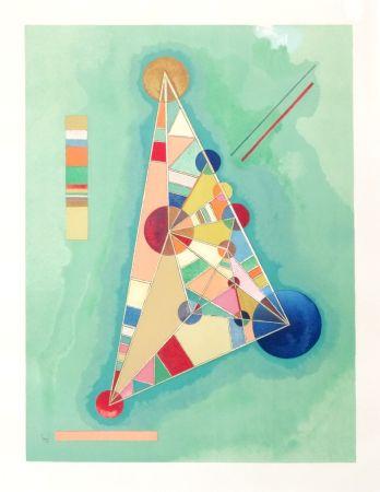 Litografía Kandinsky - Bigarrure dans le triangle
