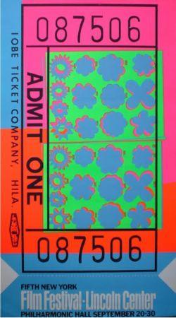 Serigrafía Warhol - Biglietto Lincoln Center (FS II.19)