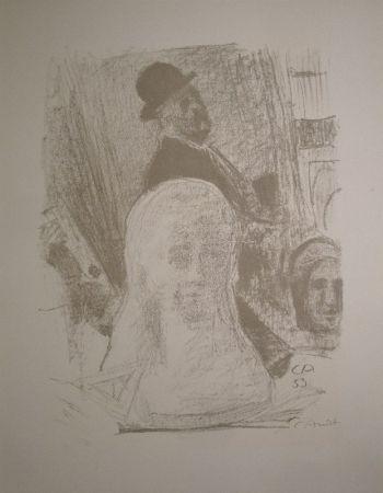 Litografía Amiet - Bildnis des Künstlers mit Büste der Gattin