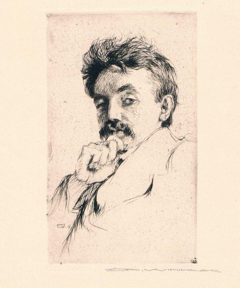 Grabado Winkler - Bildnis Dr. Z (Portrait Of Dr. Z)