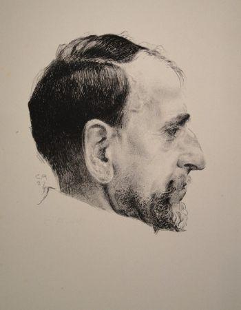 Litografía Amiet - Bildnis Erst Kreidolf im Profil