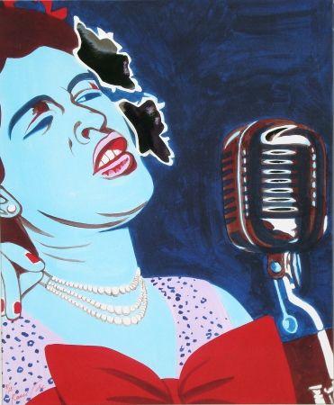 Serigrafía Rancillac - Billie Holiday