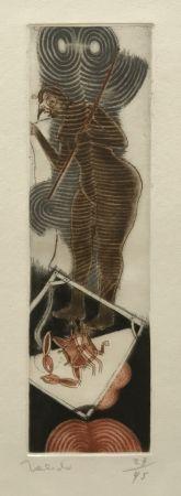 Grabado Toledo - Bird Woman with Crab
