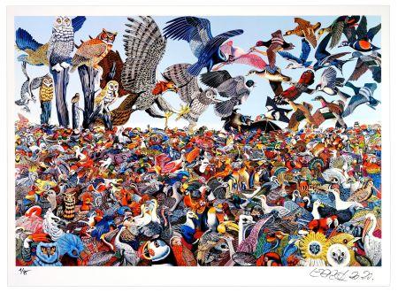 Estampa Numérica Erro - Birdlandscape