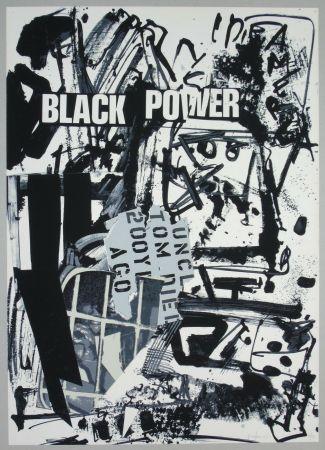 Litografía Vedova - Black power