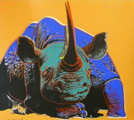 Serigrafía Warhol - Black Rhinoceros (FS II.301)