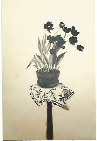 Litografía Hockney - Black Tulips