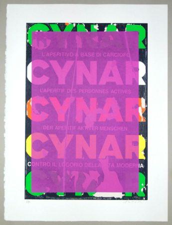 Serigrafía Rotella - Blank Cynar (fucsia)