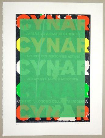 Serigrafía Rotella - Blank Cynar (verde)