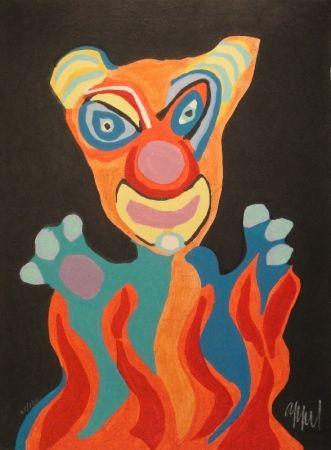 Grabado En Madera Appel - Blatt der Folge Circus / Cirque, Soleil du Monde