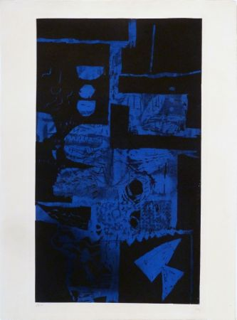 Aguafuerte Y Aguatinta Clavé - Bleu Noir