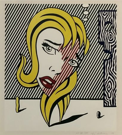 Litografía Lichtenstein - Blonde (Surrealist Series)