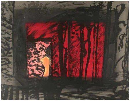 Litografía Hodgkin - Blood, 1983