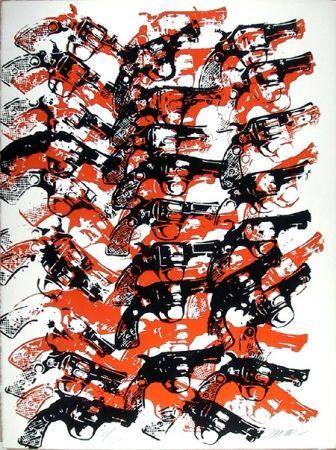 Serigrafía Arman - Bloody Guns