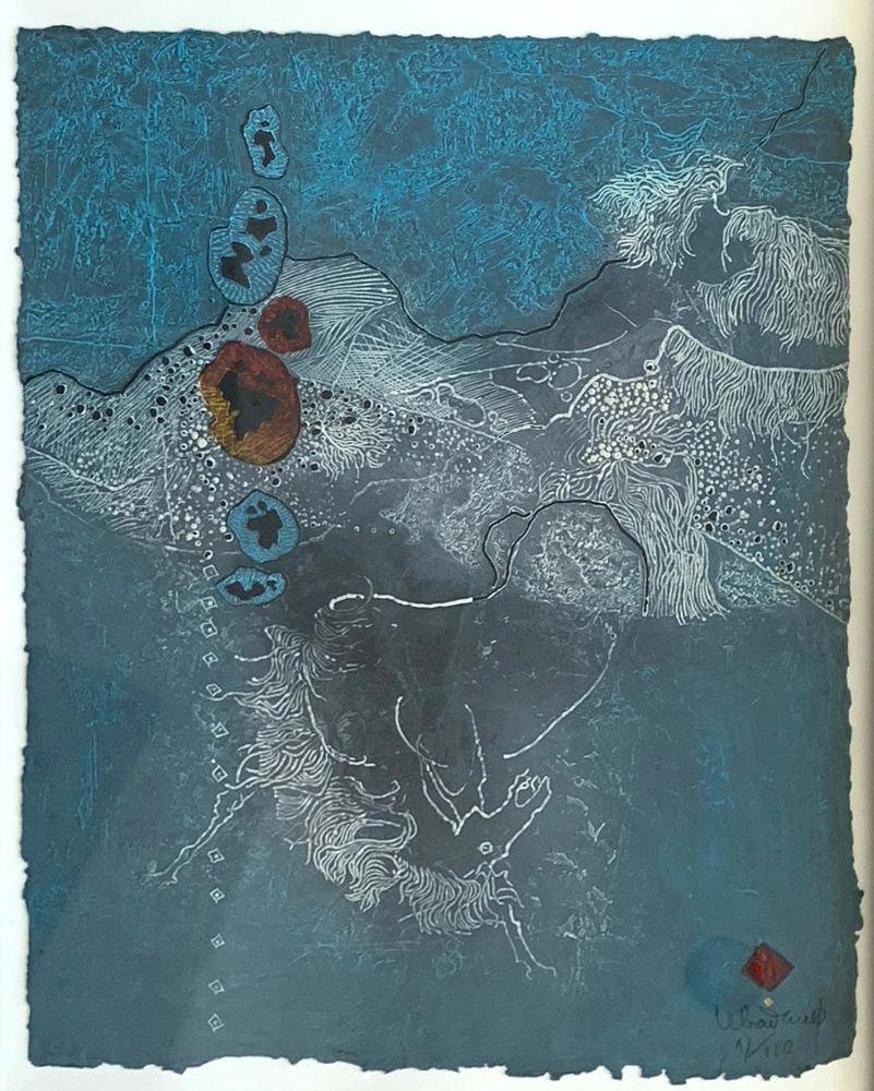 Aguafuerte Y Aguatinta Lebadang - Blue Abstract