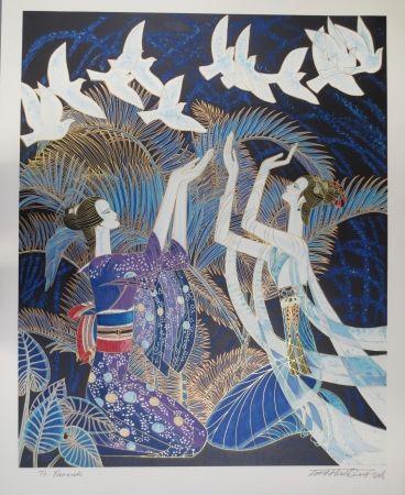 Litografía Ting - Blue birds