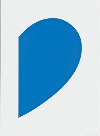 Litografía Kelly - Blue Curve