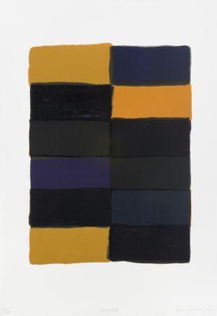 Litografía Scully - Blue fold-litho