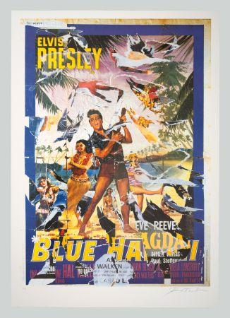 Serigrafía Rotella - Blue Hawaii