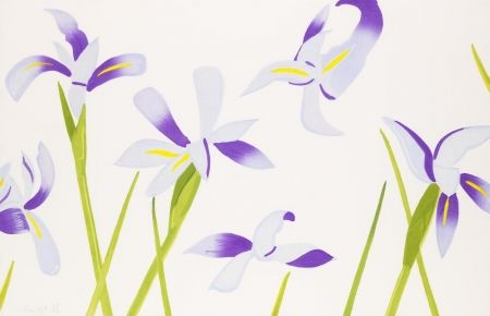 Grabado En Madera Katz - Blue Irises