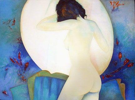 Litografía Gaveau - Blue Nude III
