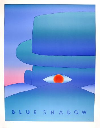 Cartel Folon - Blue Shadow (L'Aube, 1972)