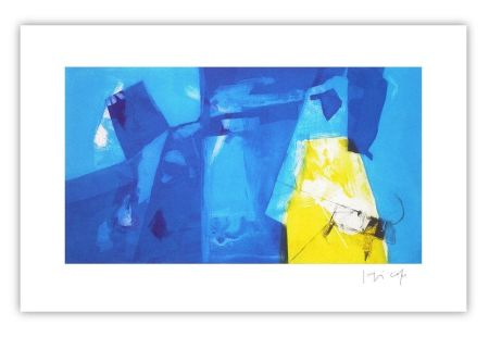 Grabado Capa - Blue space with yellow