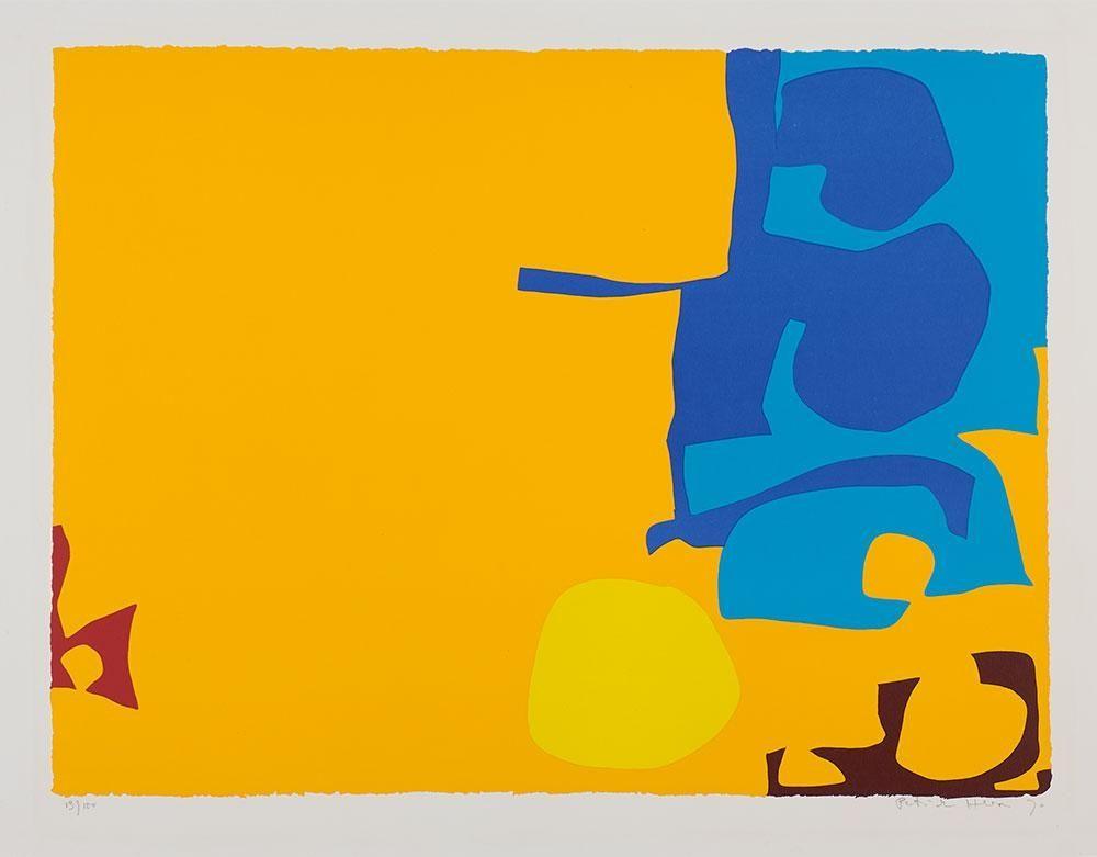 Serigrafía Heron - Blues Dovetailed in Yellow