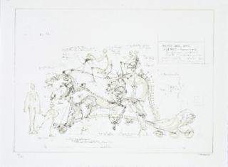 Litografía Delarozière - Boeuf de manège