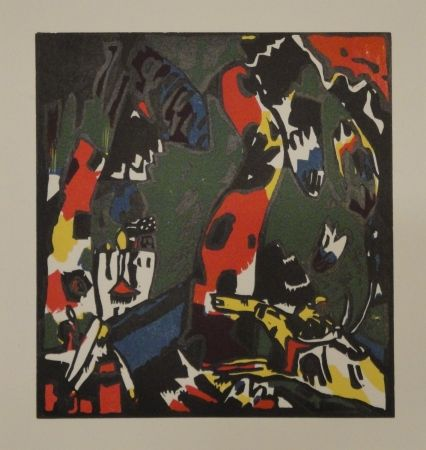 Grabado En Madera Kandinsky - Bogenschütze.