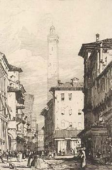Grabado Bonington - Bologne