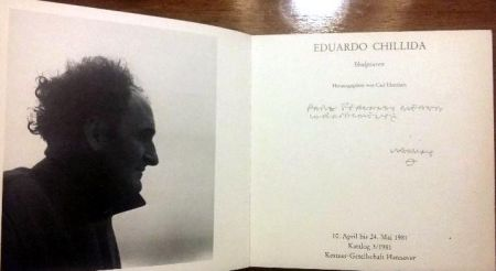 Libro Ilustrado Chillida - Book Chillida Skulpturen - Signed by the artist