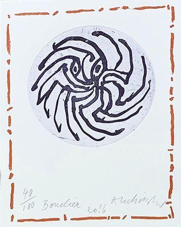 Grabado Alechinsky - Bouclier