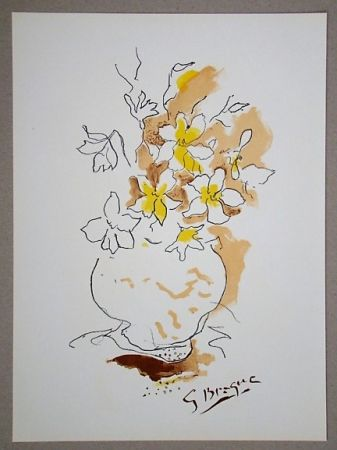 Litografía Braque (After) - Bouquet