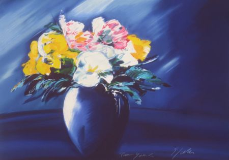 Litografía Spahn - Bouquet