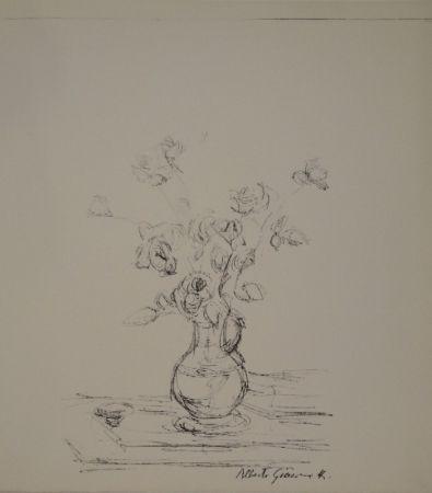 Litografía Giacometti -  Bouquet dans une cruche I