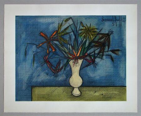 Litografía Buffet - Bouquet de fleurs, 1951