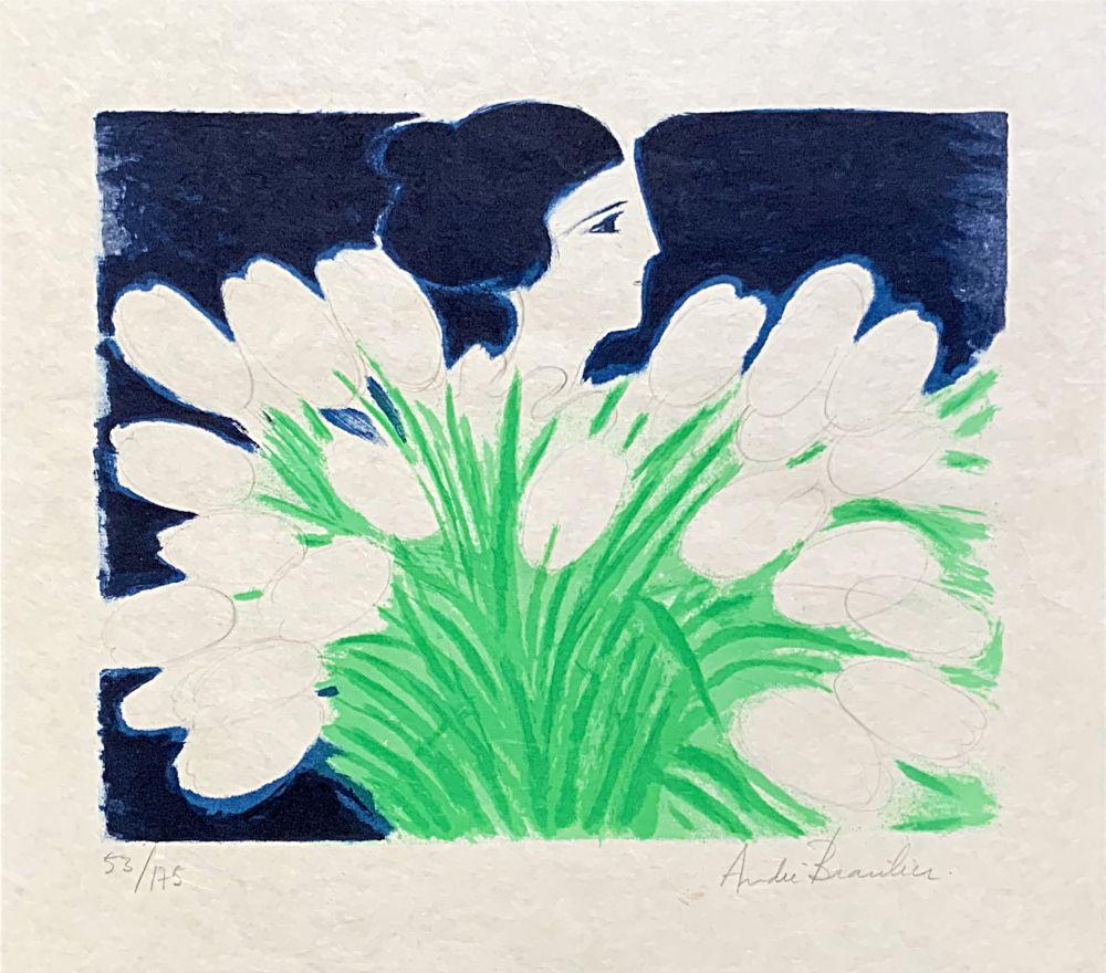Litografía Brasilier - Bouquet de Printemps