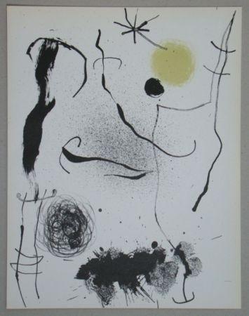 Litografía Miró - Bouquet de rêves pour Leila