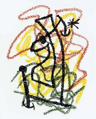 Litografía Miró - Bouquet de Rêves pour Neila