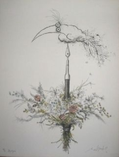 Litografía Searle - Bouquet garni