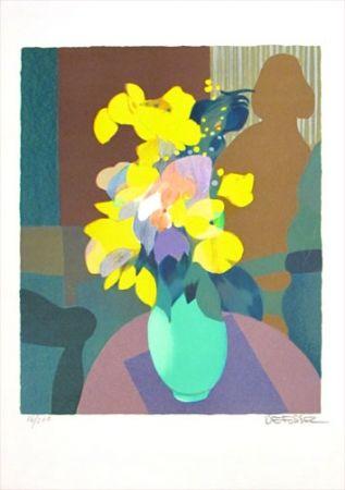 Litografía Defossez - Bouquet Jaune