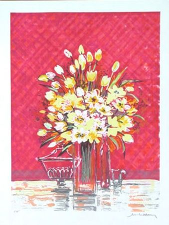 Litografía Henry - Bouquet jaune