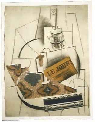 Litografía Picasso - Bouteille de Vieux Marc