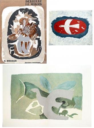 Libro Ilustrado Braque - BRAQUE, derniers messages. Derrière le Miroir n° 166 . Juin 1967.