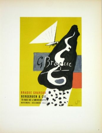 Litografía Braque - Braque Graveur  Galerie Berggruen Paris 1953