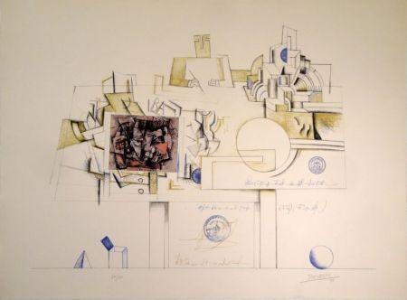 Litografía Steinberg - Braque Postcard