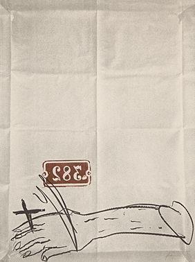 Litografía Tapies - Bras Et Chiffres